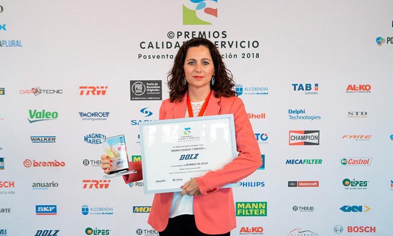 Rocío Dolz recibe el premio